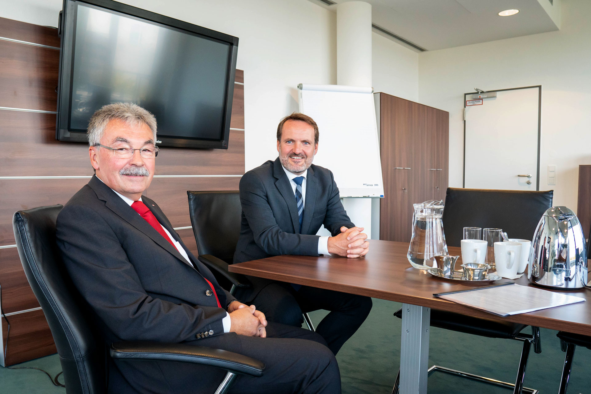 Generalleutnant a.D. Manfred Hofmann und BwConsulting-CEO Philip von Haehling
