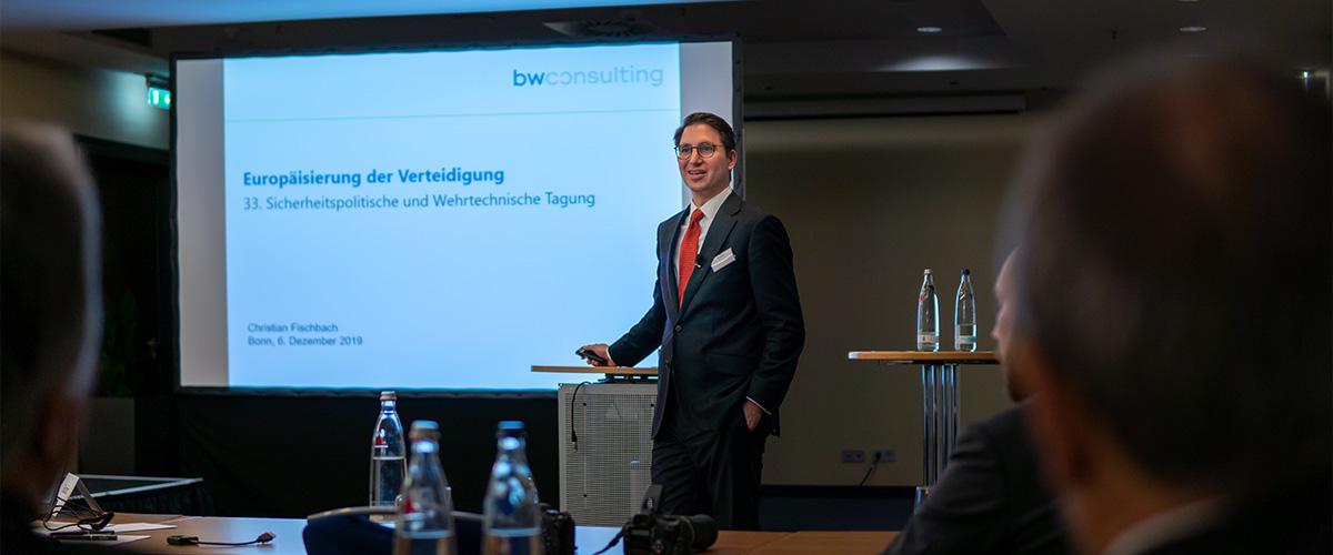 Christian Fischbach beim Vortrag