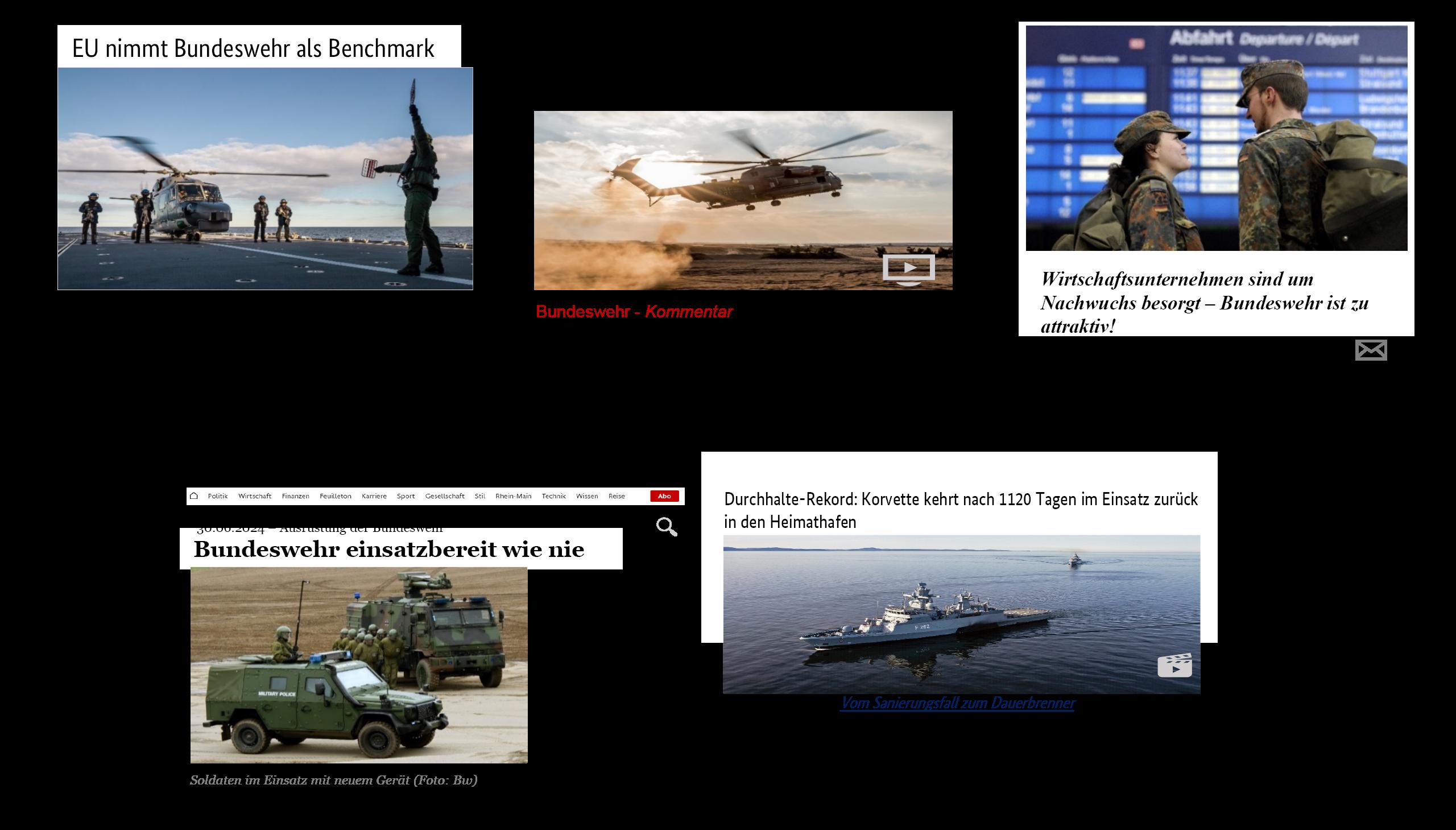 Wie die Bundeswehr 2024 wahrgenommen werden soll